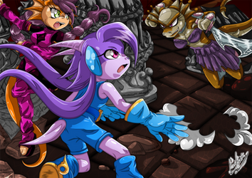 Request: Sash Lilac, Berry and Viper