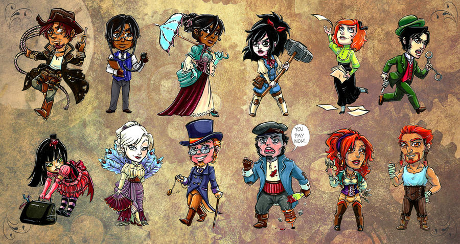 Steampunk Line Up by Caden13