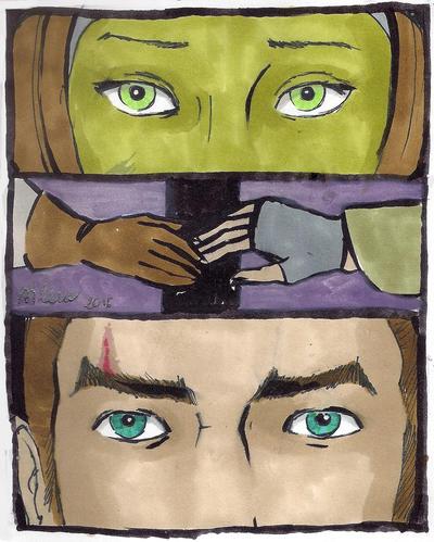 Eye to eye by silene-acaulis