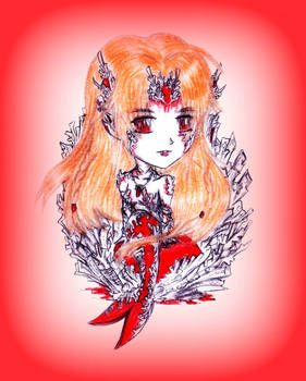 Chibi Coral Mermaid