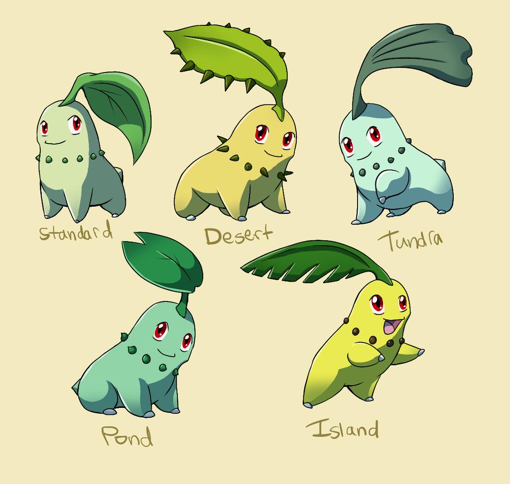 Pokemon Subspecies Chikorita By CoolPikachu29 On DeviantArt