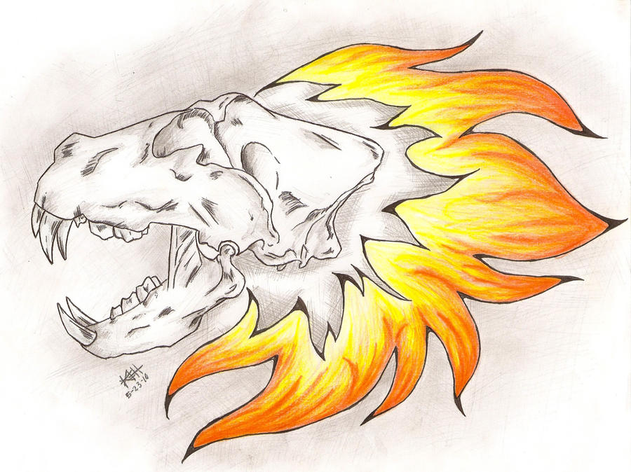 Lion skull tattoo redesign 2 by crymson rayne on deviantart for Lion skull tattoo