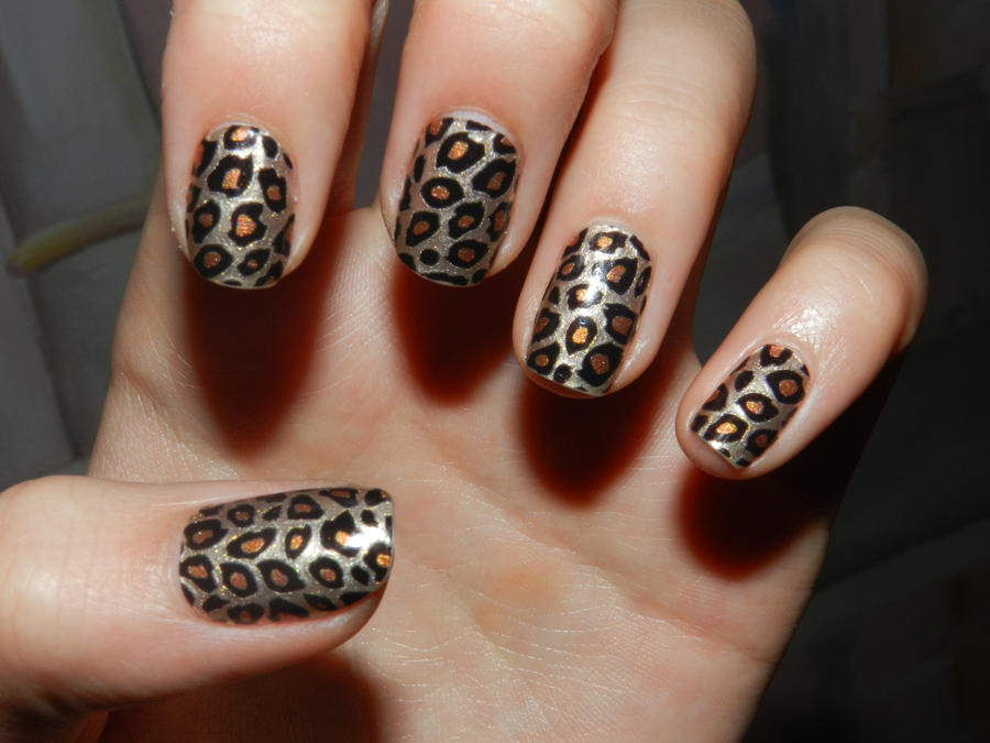 leopard nail art by 15071994 on DeviantArt