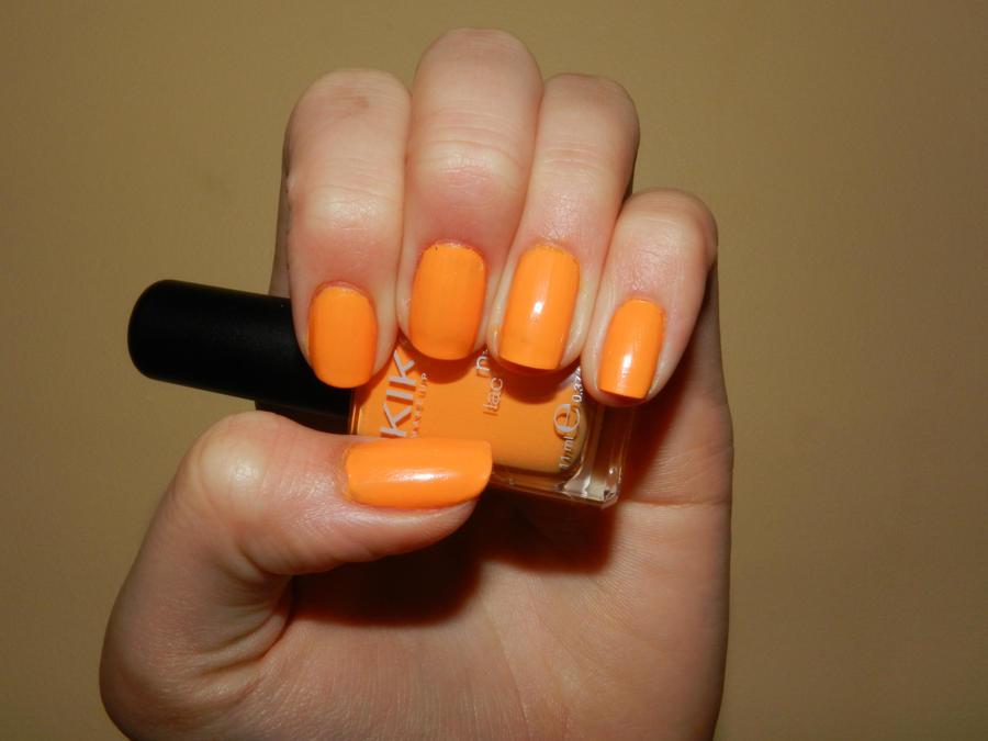 Nail Art Orange By 15071994 On Deviantart