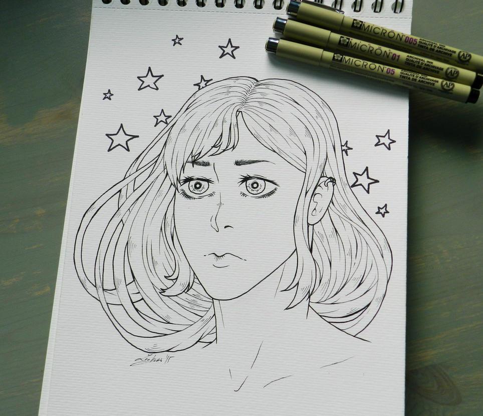 Inked sketch by LifeEvans