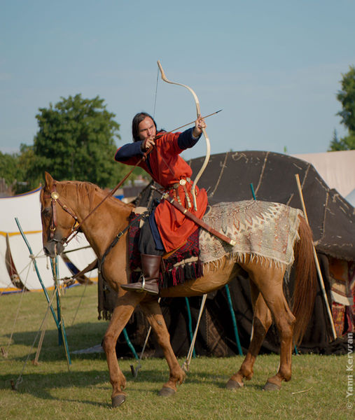 Mongol horse archer by sabiss