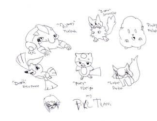 My Poke'team by skysoul25