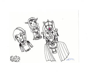 Zelda Triforce Trio -Melrose- by skysoul25