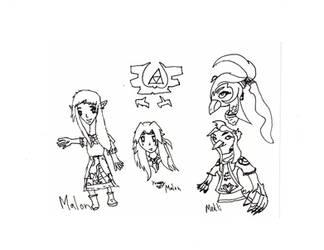 Legend of Zelda: Redesign - Medli and Malon- by skysoul25
