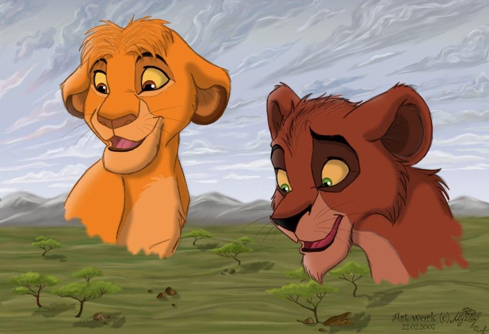 Taka and Mufasa by Myza-Lioness