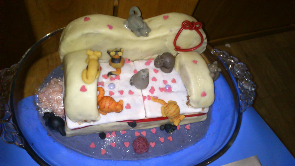 Kitty Sofa Cake By Miryl On Deviantart