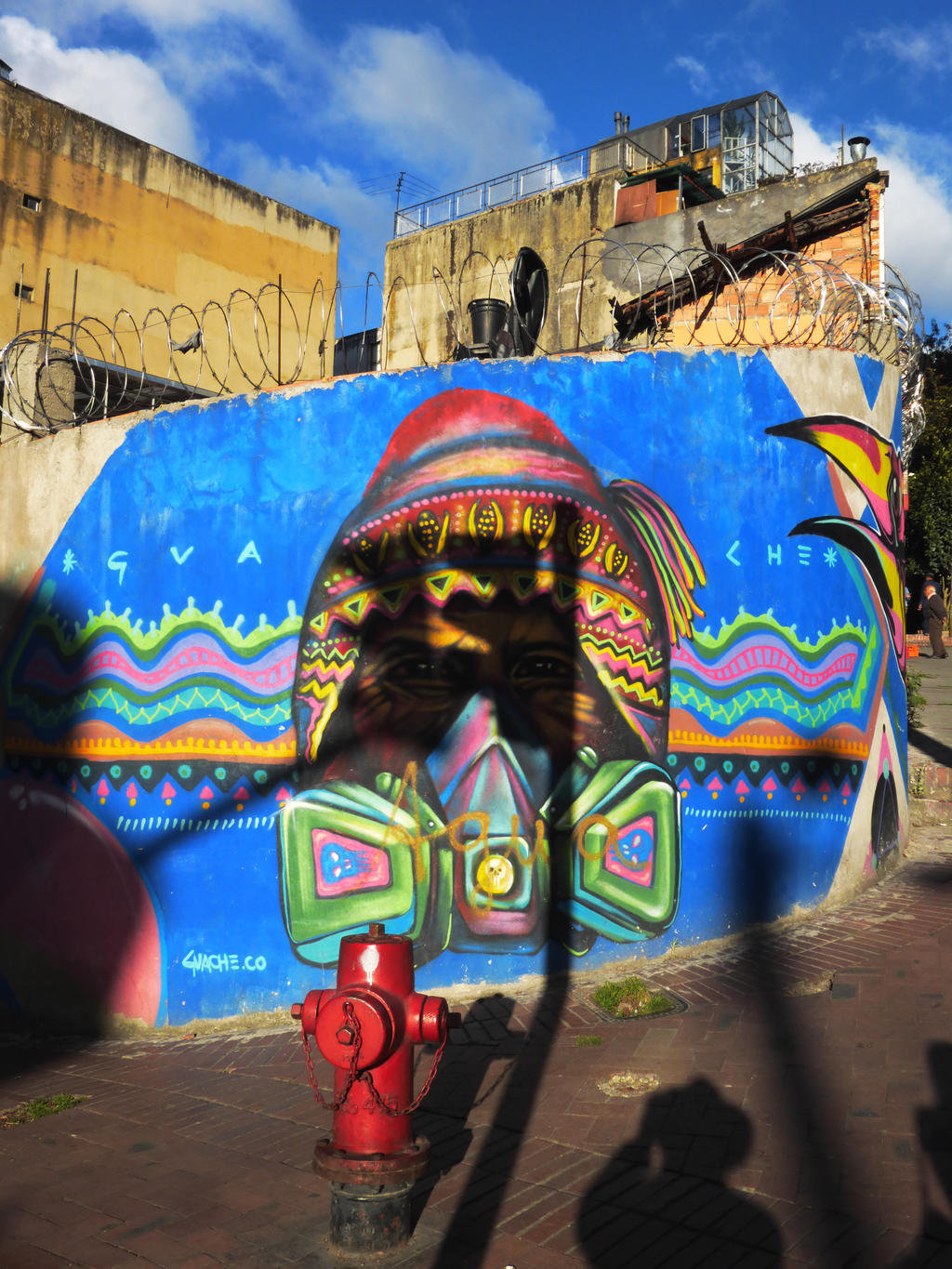 Indian graffiti -Bogota by WillemFred