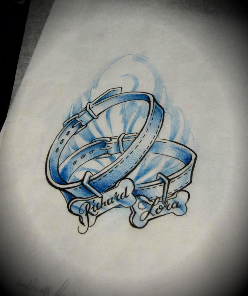 Line Art Dog Tattoo : Dog collar tattoo design by arturnakolet on deviantart