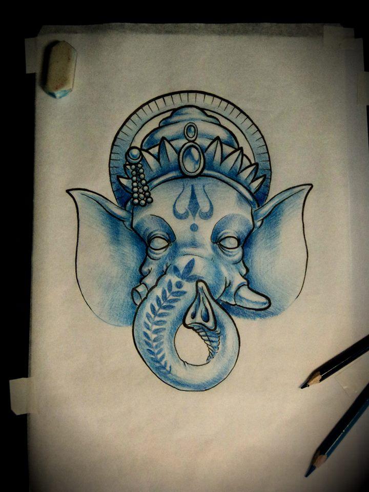 ganesh head tattoo outline - photo #15
