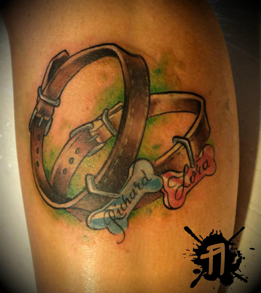 Custom Dog Collar Tattoo By ArturNakolet On DeviantArt