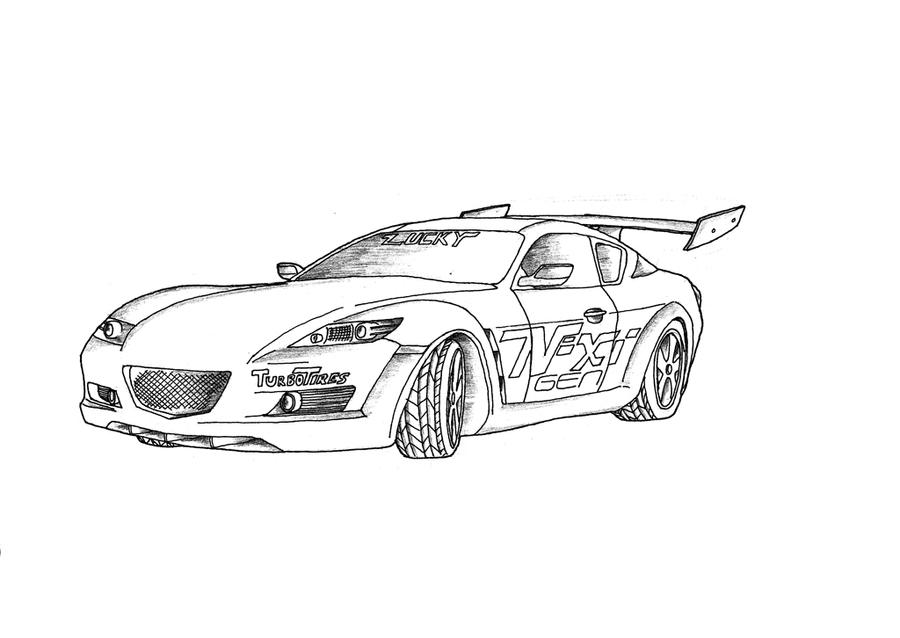 mazda rx 8 coloring pages sketch coloring page
