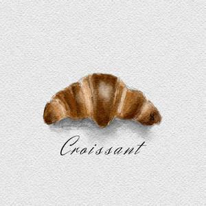 Croissant  (Watercolor effect ibispaint)