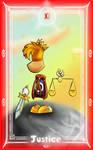 Rayman Tarot Card -Justice
