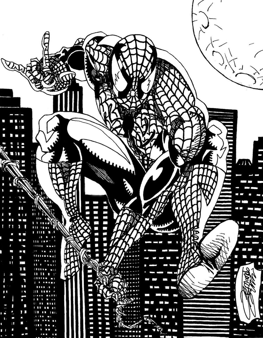 SPIDERMAN: black and white by VAXION on DeviantArt