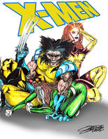Wolvie, Phoenix and Rogue by VAXION