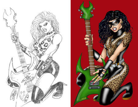 HR JAG GIRL 'sketch and final'