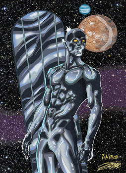 SILVER SURFER inks/color Commish