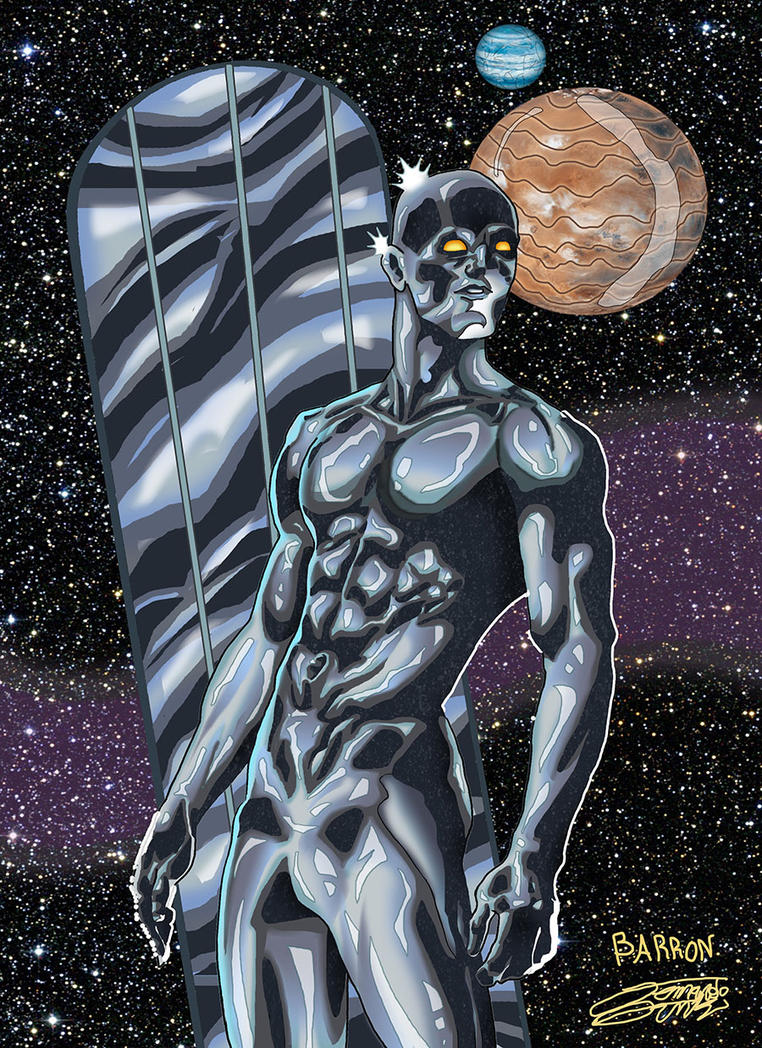 SILVER SURFER inks/color Commish by VAXION