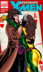 GAMBIT and ROGUE Valentine's mock cover