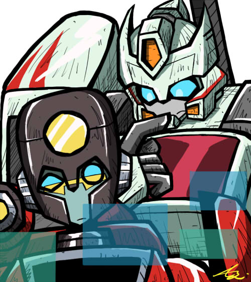 Animated Percepter and Drift by Colza666