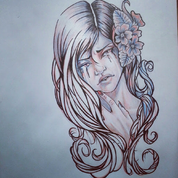 Depression Is Hell Tattoo Submit Your Tattoo: Sad Girl By ArtsyLun4tic On DeviantART