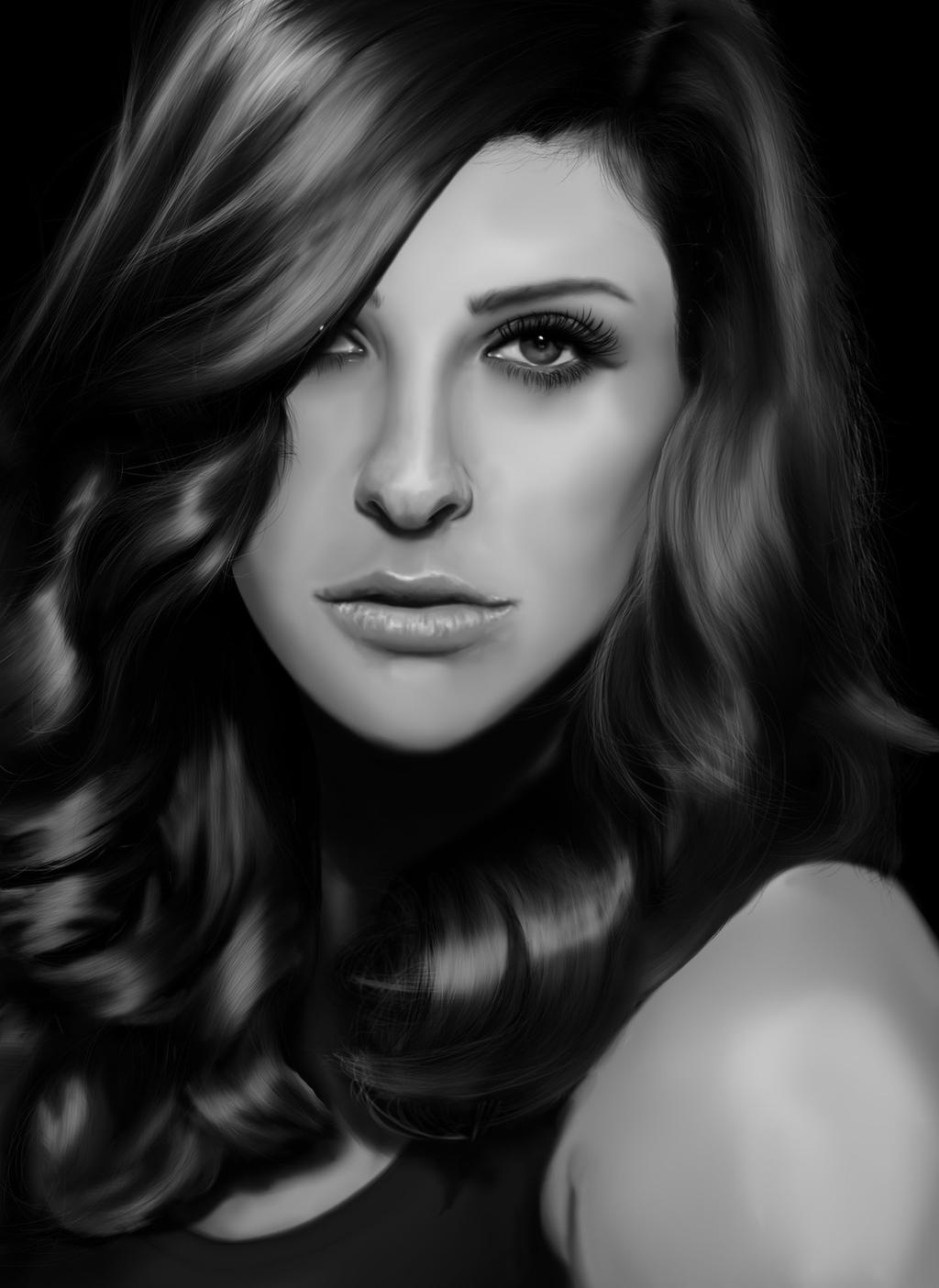 Jill Wagner Digital Portrait