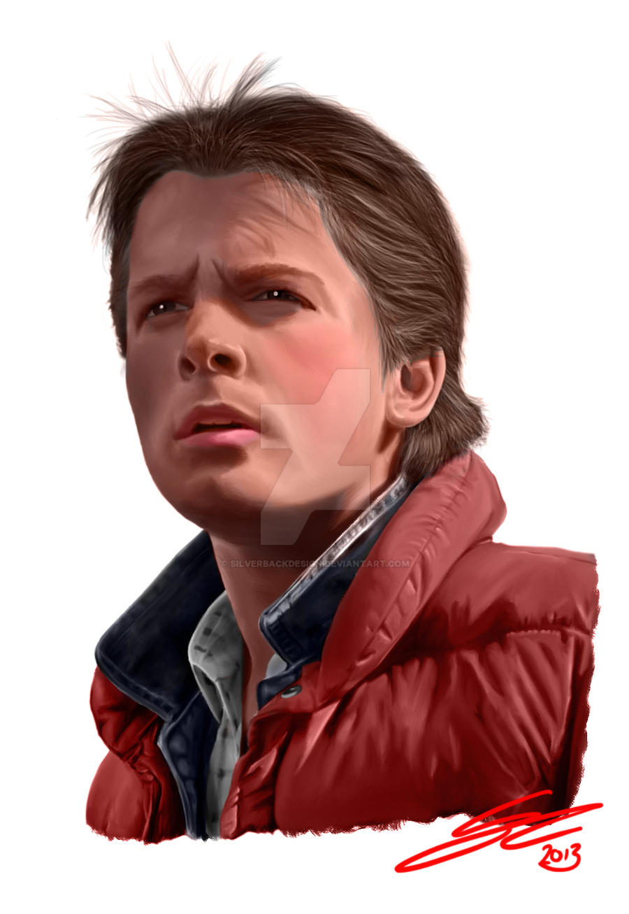 Marty McFly - Digital Painting - Colour Version