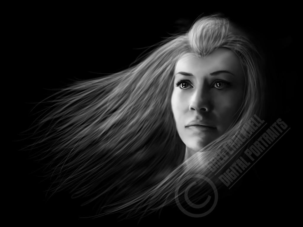 Tauriel - Evangeline Lilly Digital Painting