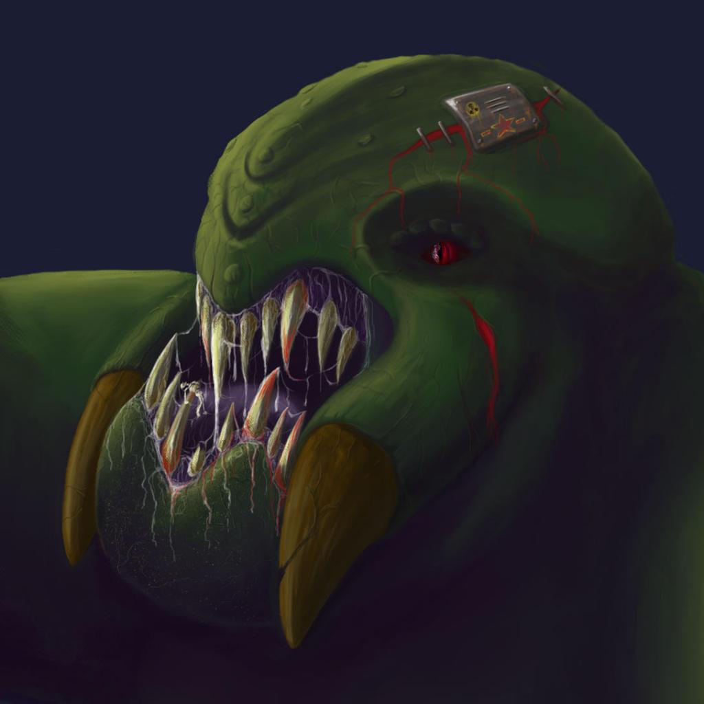 Kaiju WIP Digital Painting