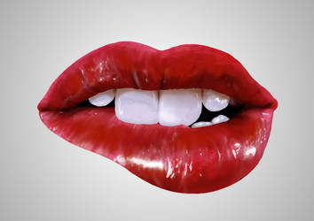 Lips Practice - Digital Painting in photoshop
