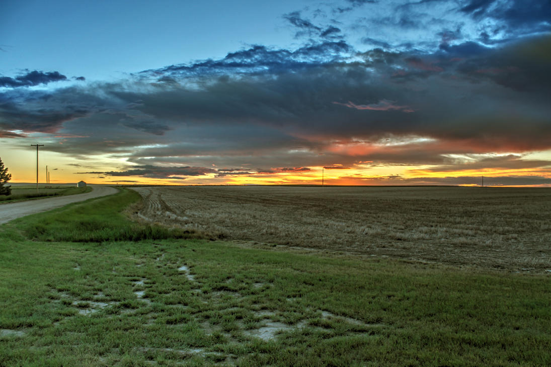 Montana Sunset by kingrabbit