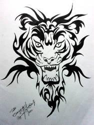 tiger tattoo design by XagroS
