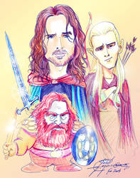 lord of the rings by XagroS