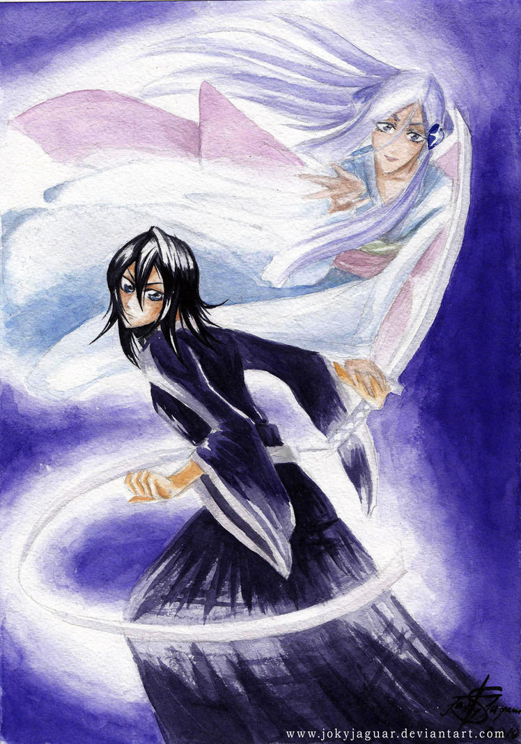 Rukia with Sode no Shirayuki by JokyJaguar