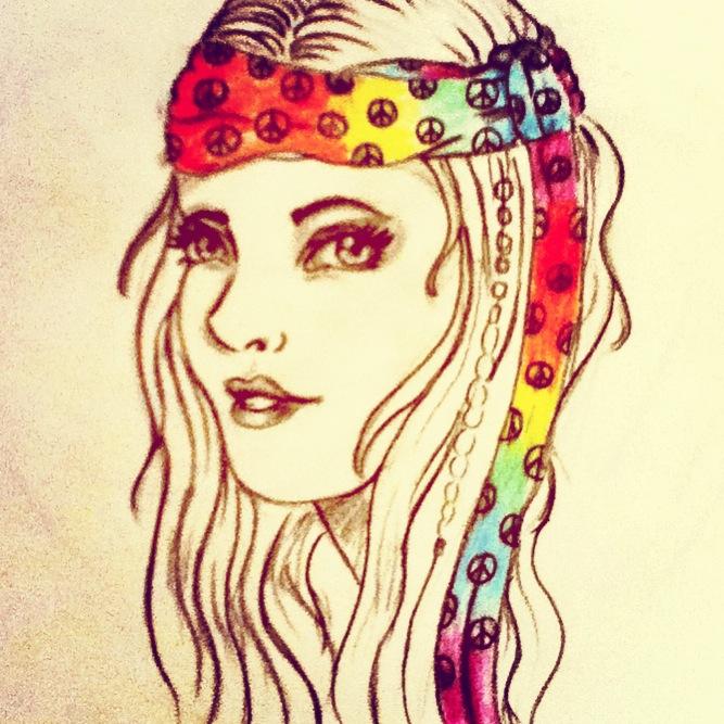 Hippie girl by speckledeyes on DeviantArt