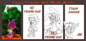 Yajuu Trainer Age Meme: Bunny