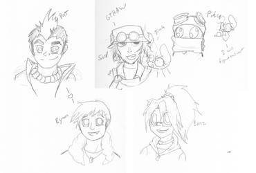 Sketchy Heads Practice by Bunnygirle26