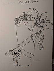 Inktober Day 28 Gift by Bunnygirle26