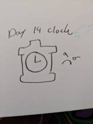 Day 14 Clock by Bunnygirle26