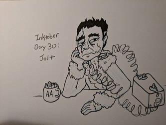 Inktober Day 30 Jolt by Bunnygirle26