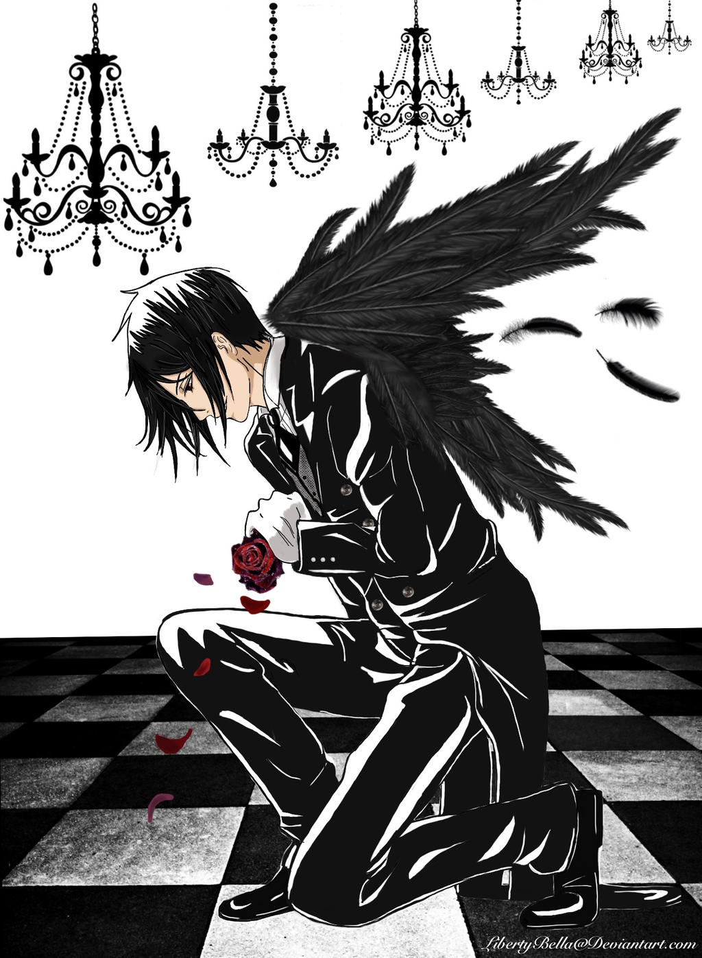 His Butler - Fallen Angel by LibertyBella