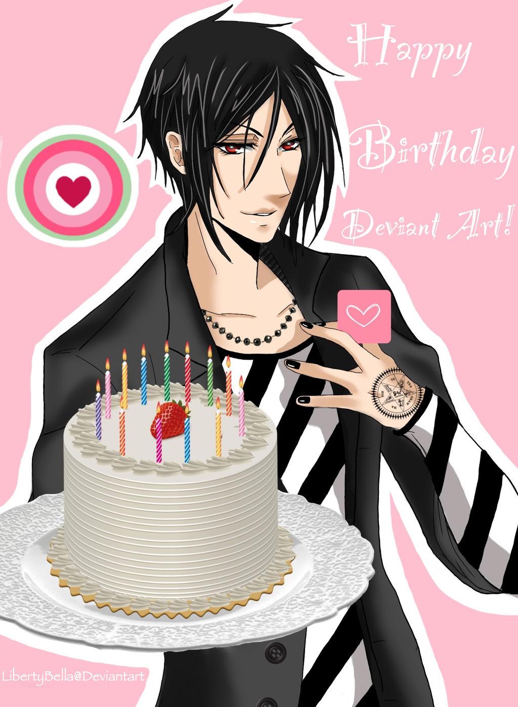 Аниме картинки поздравления к дню рождения 572