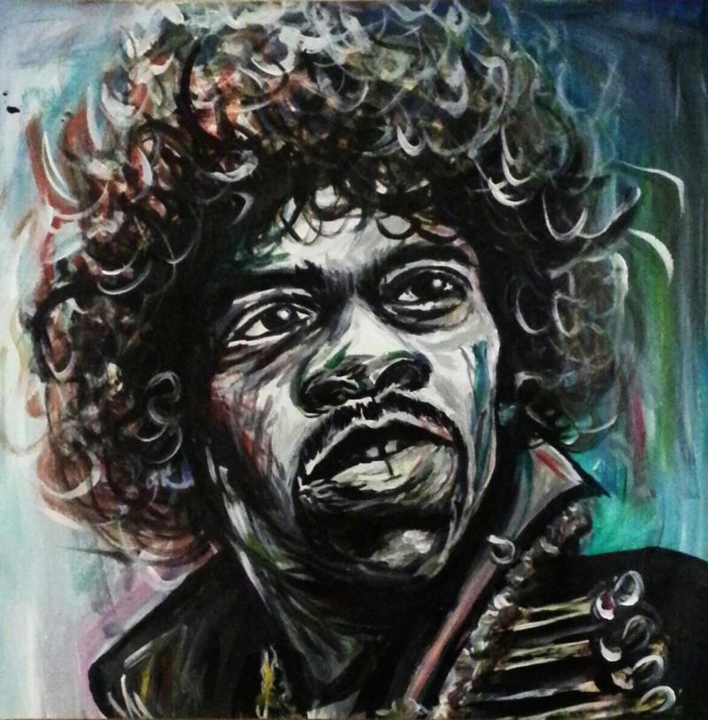 Jimi Hendrix by LeahRosslyn