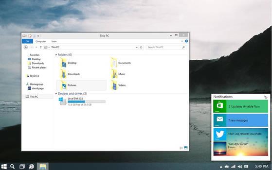 Windows 9 Notification Center