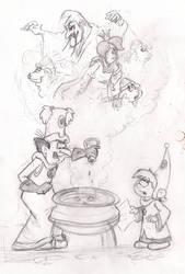 Gargamel's New Job (Sketch)